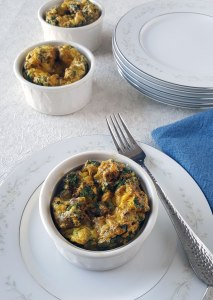 Mini Crustless Quiches with Sausage {Keto, Gluten-Free, Grain-Free}