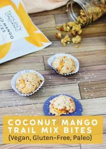 Coconut Mango Trail Mix Bites {Vegan, Gluten-Free, Paleo}