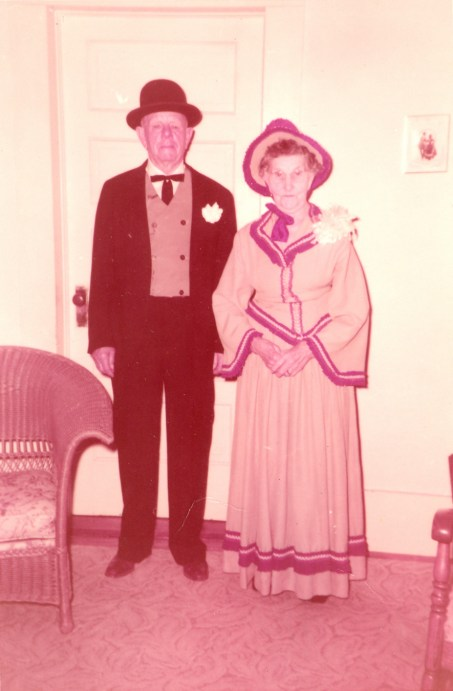 Dressed for celebrating 1956 Kerr County Centennial
