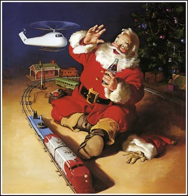 1962 Santa with train and helicopter