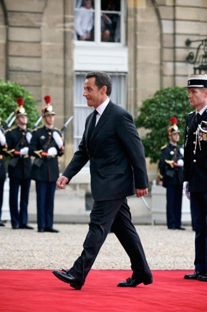 French President Nicolas Sarkozy intronisation, 2007.