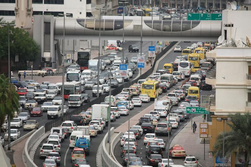 Un énorme embouteillage