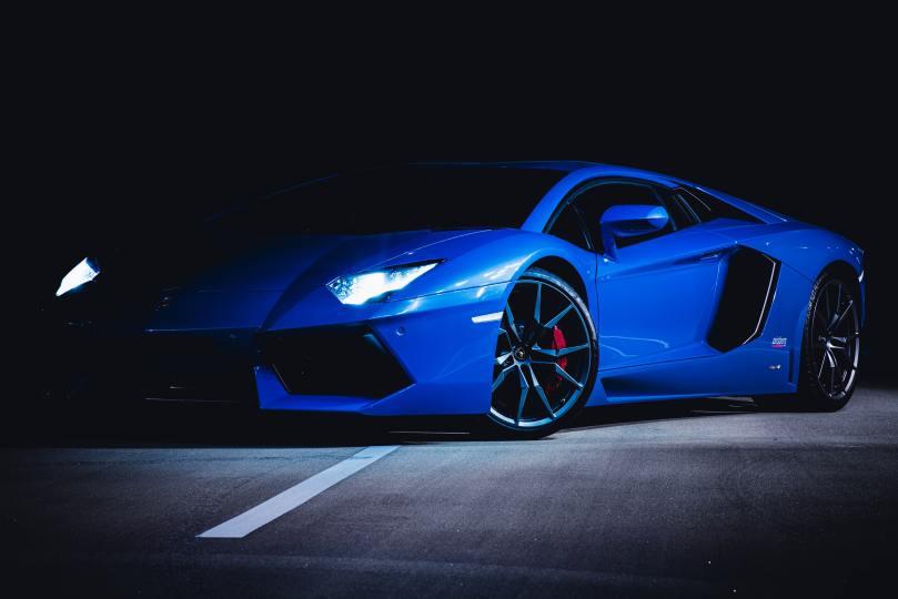 Superbe voiture bleue