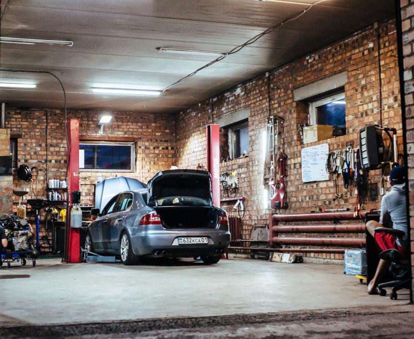 Un garage bien aménagé