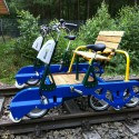 Pedelec-Draisine       Foto:Mecklenburger Draisinenbahn