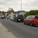 Für Autofahrer ungewohnt: geschlossene Schranken am Bahnhof Freital-Birkigt.