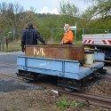 """Zum Transport der Arbeitsgeräte wurde unser """"Schnipsi"""" nach Freital-Birkigt gebracht."""