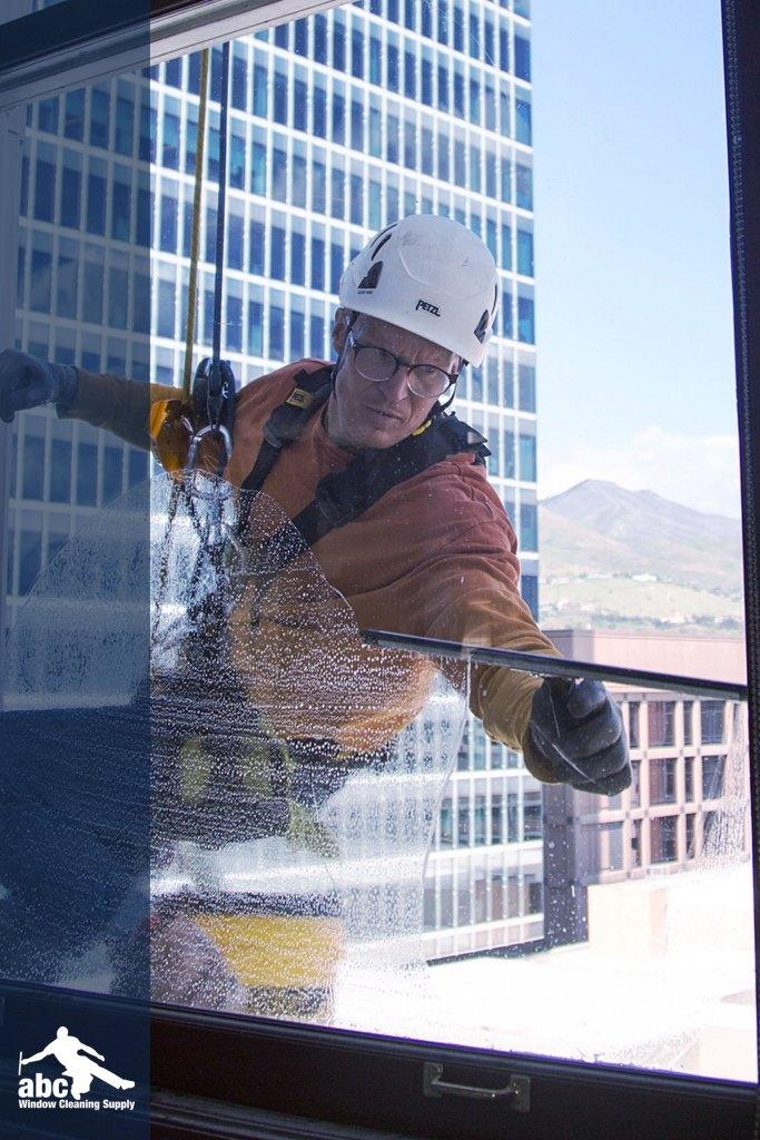 High Rise Window Cleaner Jimmy Keithley, owner of Outlook Window Cleaning, https://outlook-window-cleaning-services.business.site/.