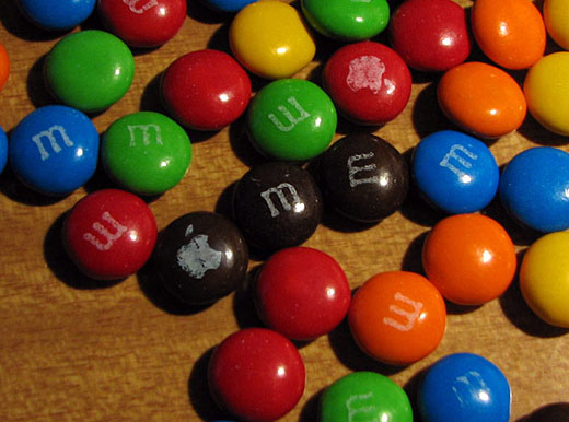 Apple on m&m