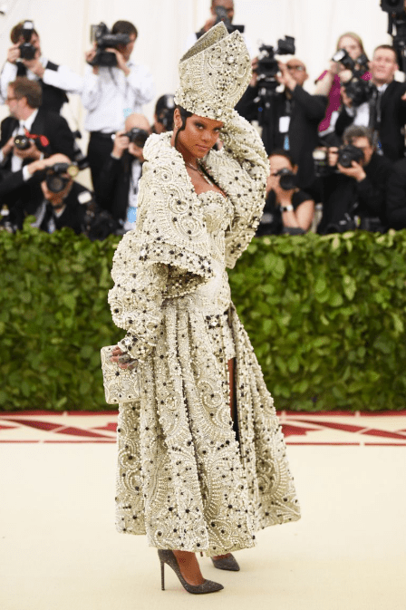 d7b0bc0885cbaa POPE FENTY All hail queen Ri, or should I say Pope Ri. Jaws literally  dropped when Rihanna walked the red carpet in Maison Margiela.