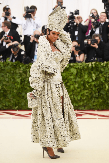 c992b204 Jaws literally dropped when Rihanna walked the red carpet in Maison  Margiela.