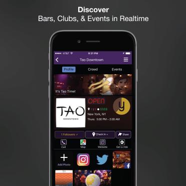 Yule Nightlife App Venue Profile Page