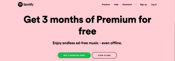 Free trial example Spotify 2020