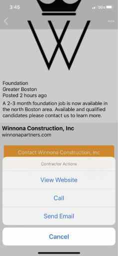 SubContacts app how to get in touch with general contractors