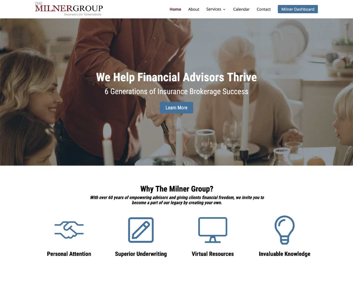 Milner Group Website 2020