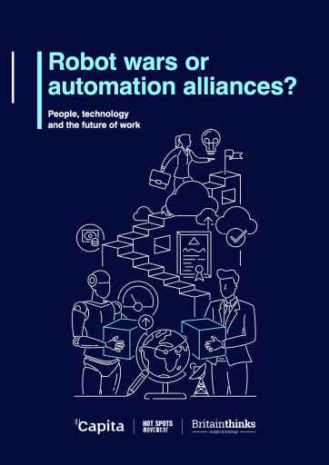 "Capita report ""Robot wars or automation alliances?"" cover"