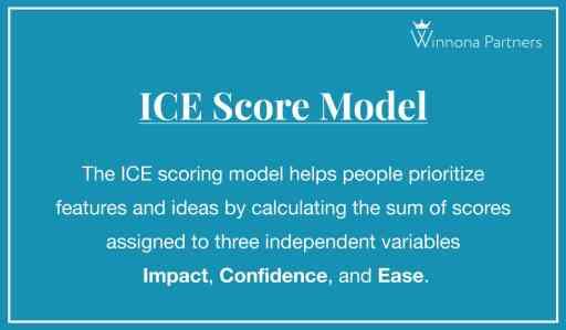 The ICE Score Model definition by Winnona Partners