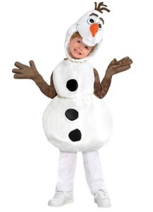 Your child will love dressing up as the hilarious snowman from Frozen.