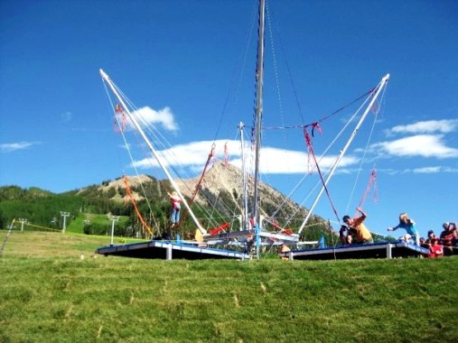 Bungee Trampoline in Crested Butte