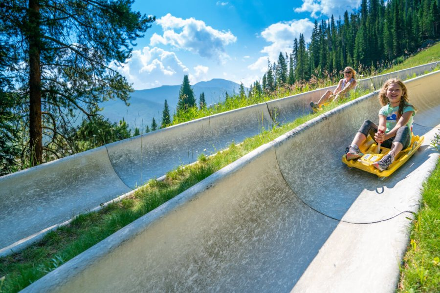 Winter Park Base activities include the alpine slide.