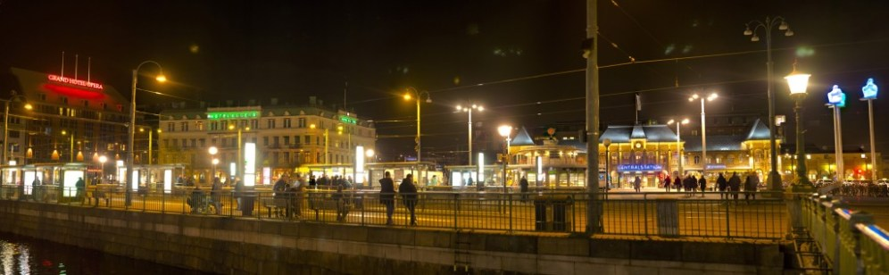 A broader view of Gothenburg's main square, from just outside our hotel.
