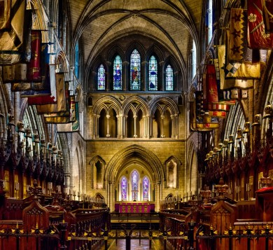 The interior of St. Patrick's Cathedral.