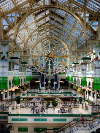 A large shopping center - St. Stephen's Green Shopping Center - where we had lunch on Sunday.