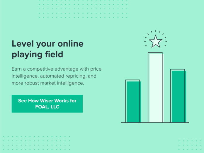 Level your online playing field. Earn a competitive advantage with price intelligence, automated repricing, and more robust market intelligence. See how Wiser works for FOAL, LLC.