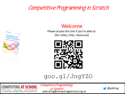 Competitive Programming in Scratch