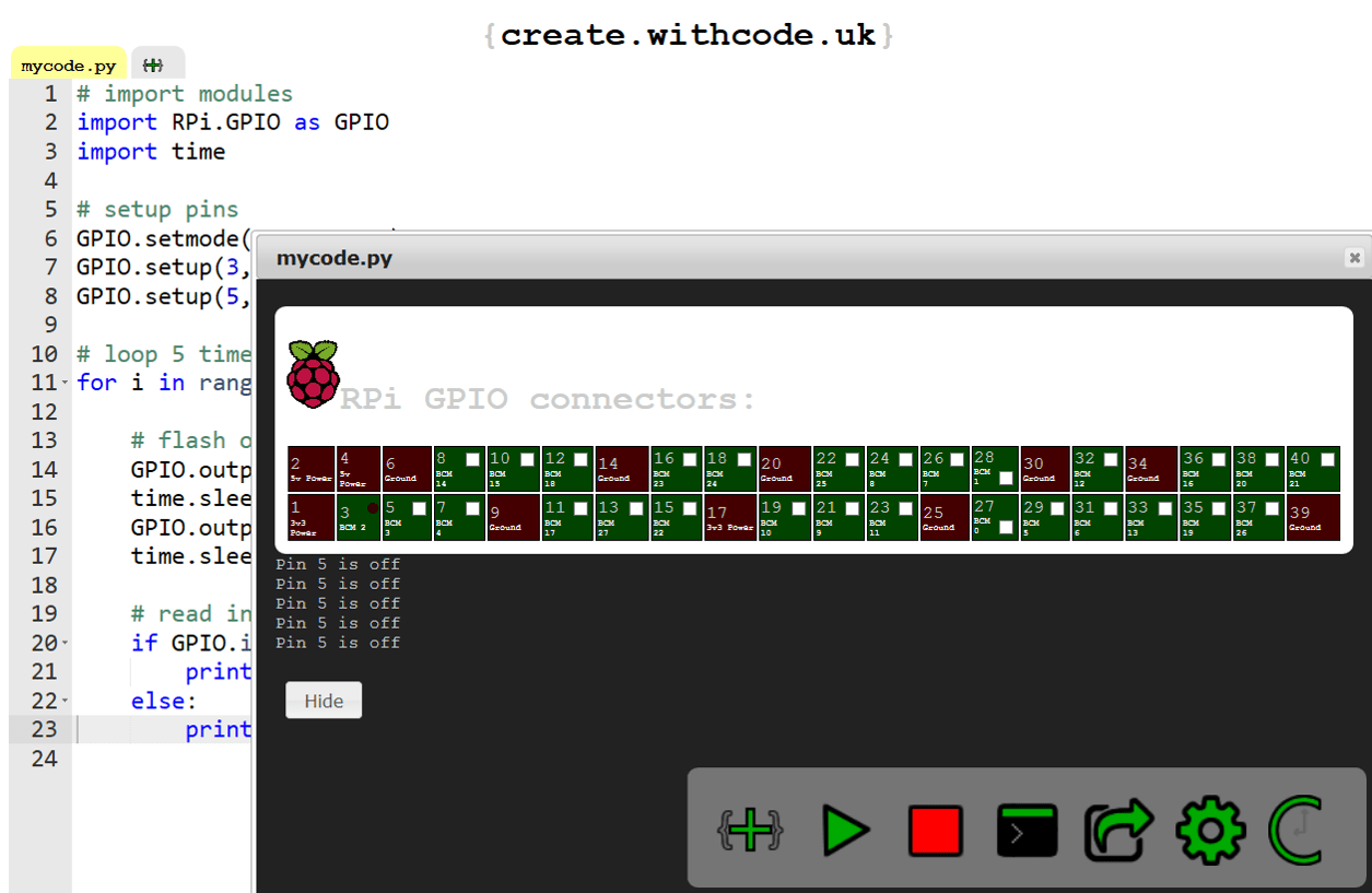 Read more about the article RPi GPIO python simulator