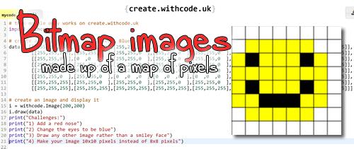 Data representation of images: Bitmap images