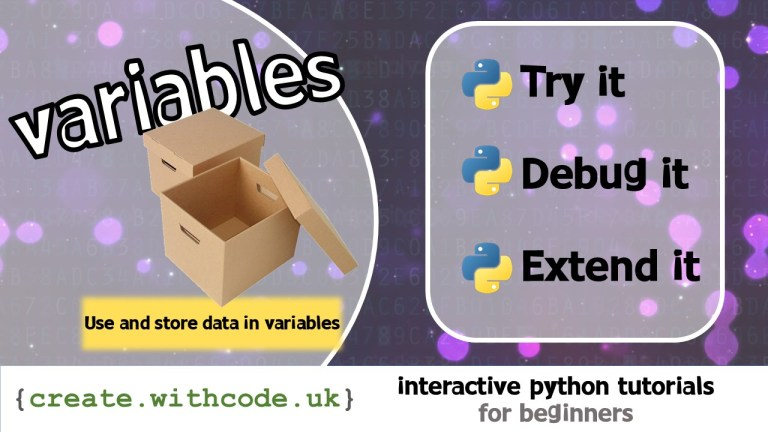 Use and store data in variables