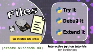 Use and store data in files