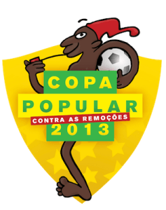 Saci, the mascot of the People's Cup