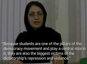"""A video made by """"prisoner of rights,"""" Bahareh Hedayat preceding her detention."""