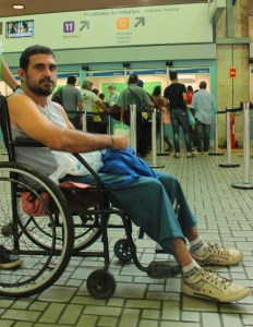 Mazio Neto faces significant challenges navigating Rio's crowded subway system.