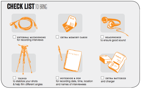 Filming Protests checklist