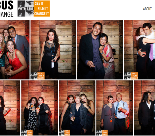 A sampling of Self-Portrait Project photos taken at 2014 WITNESS Focus For Change Benefit