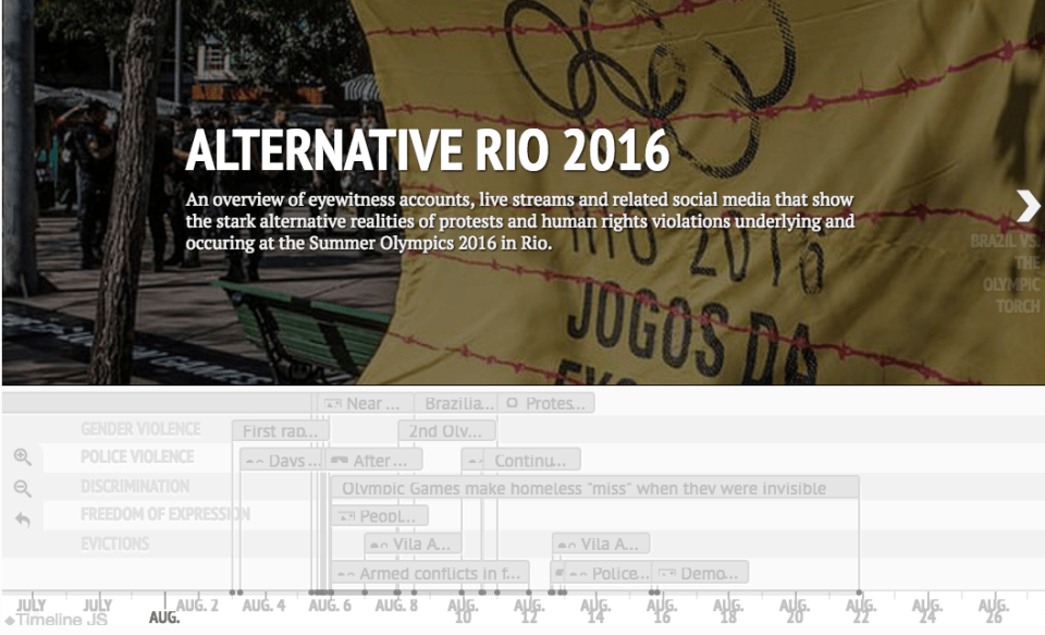 """""""Alternative Rio Live"""" Timeline of Rights Violations During the Rio Olympics"""