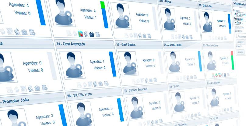 Painel de Visitas mostra desempenho de cada vendedor online
