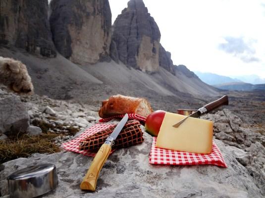 Picknick an den Drei Zinnen
