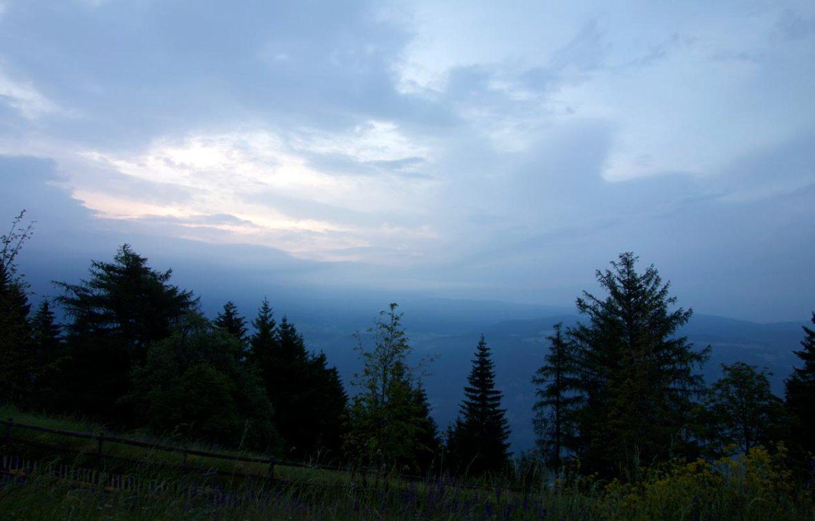 Vigilius Mountain Resort am Abend