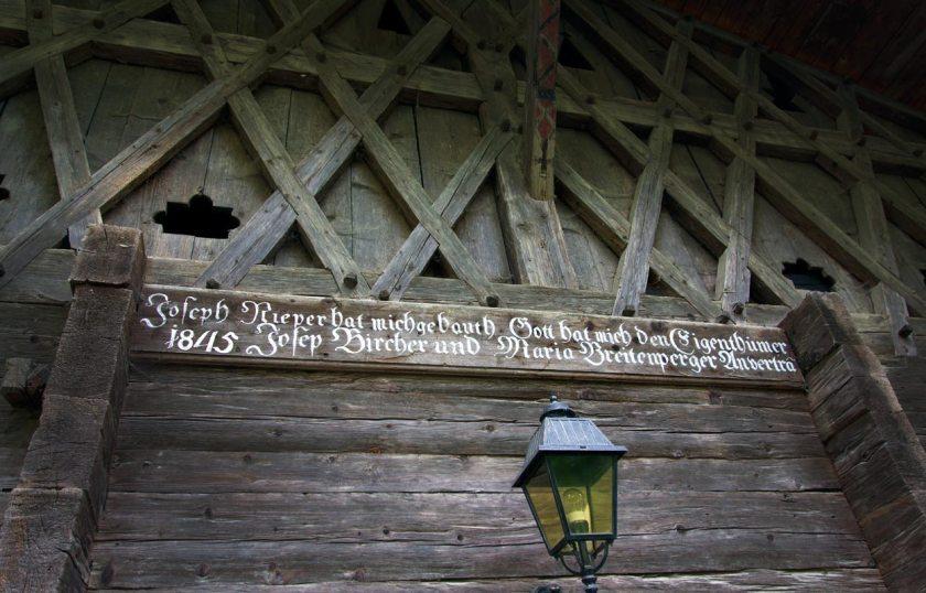 Ultental Baschtelehof Haus-Inschrift