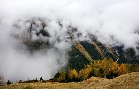 Nebel - Aufstieg zur Falbesoner Nockalm