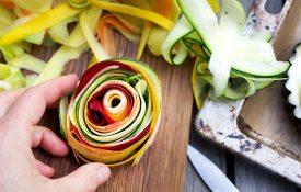 Aufgerollte Gemüsestreifen Tarte-Rezept