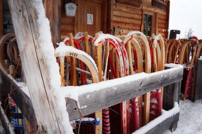 Rodelhütte am Achensee in Tirol