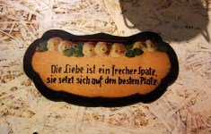 Spruch am Café Vollpension