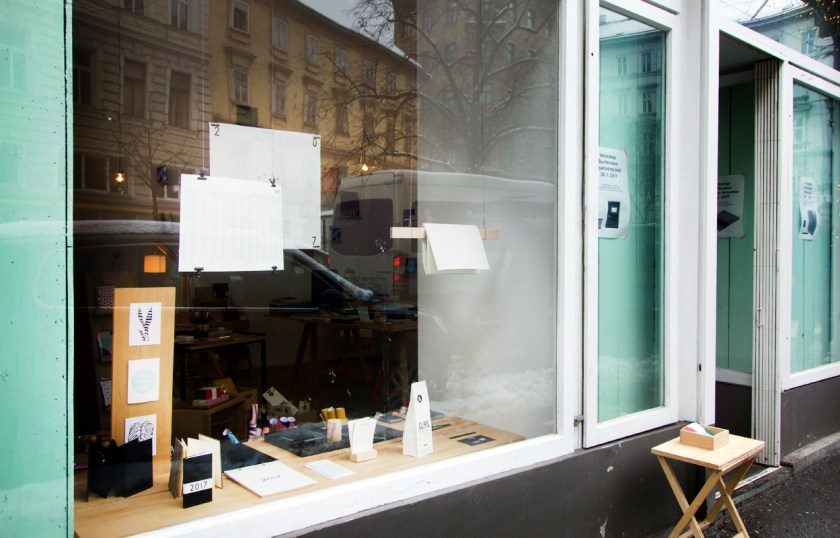 Stationary Store Sous-Bois Wien - Schaufenster