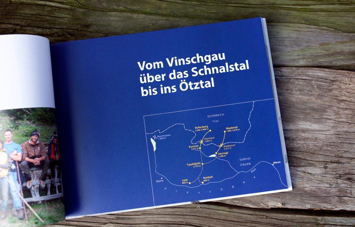 Über Gletscher und Grenzen: Inhalt - Edition Raetia