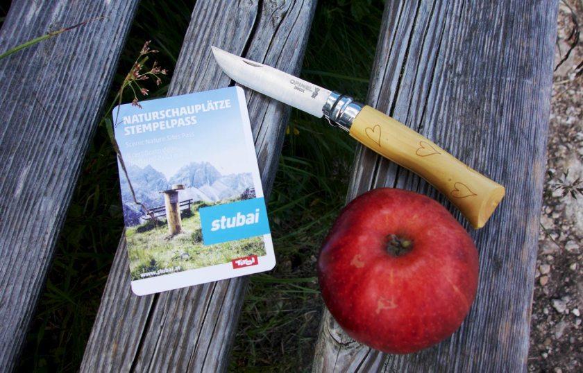 Naturschauplätze im Stubaital - Stempelkarte